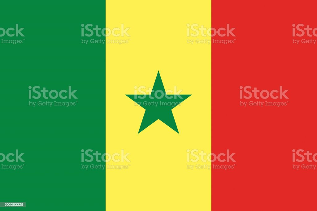 Senegal flag illustration of african country vector art illustration