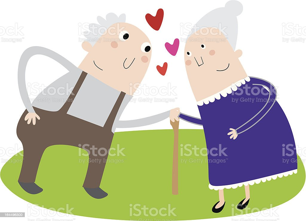 senior couple in love royalty-free stock vector art