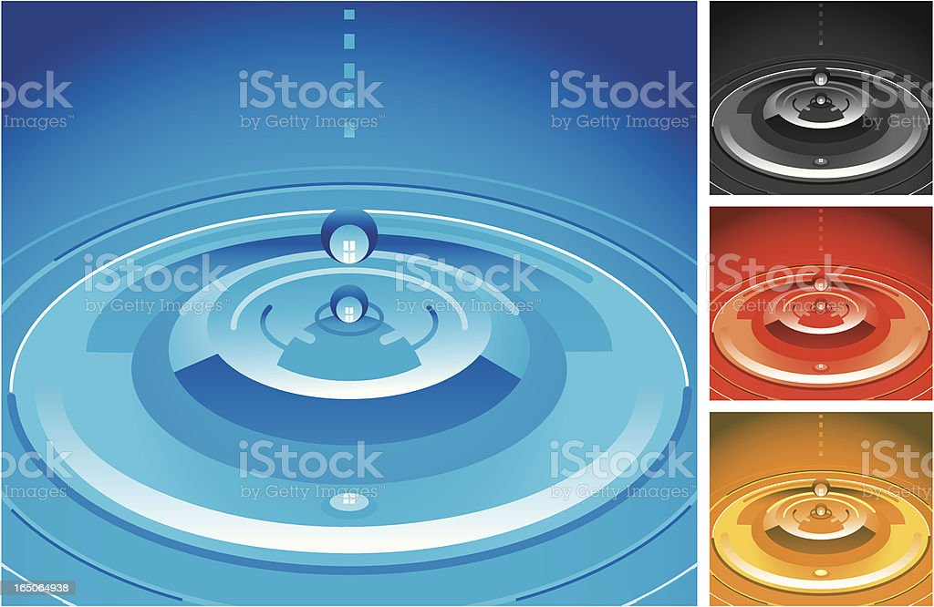 Sensational Splash vector art illustration
