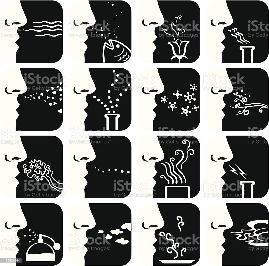 Sense of Smell vector art illustration