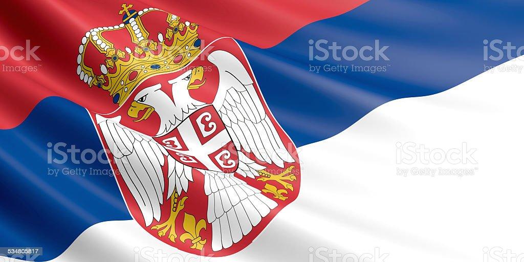 Serbia flag. royalty-free stock vector art