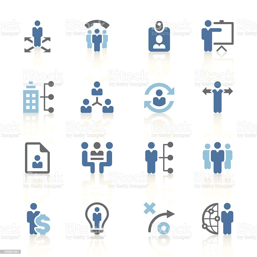 Series of management and human resource icons royalty-free stock vector art