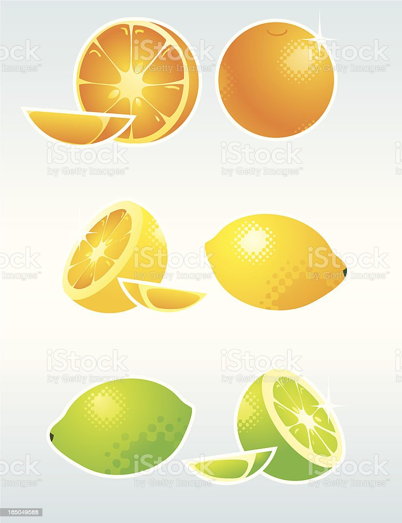 Seriously Citrus vector art illustration