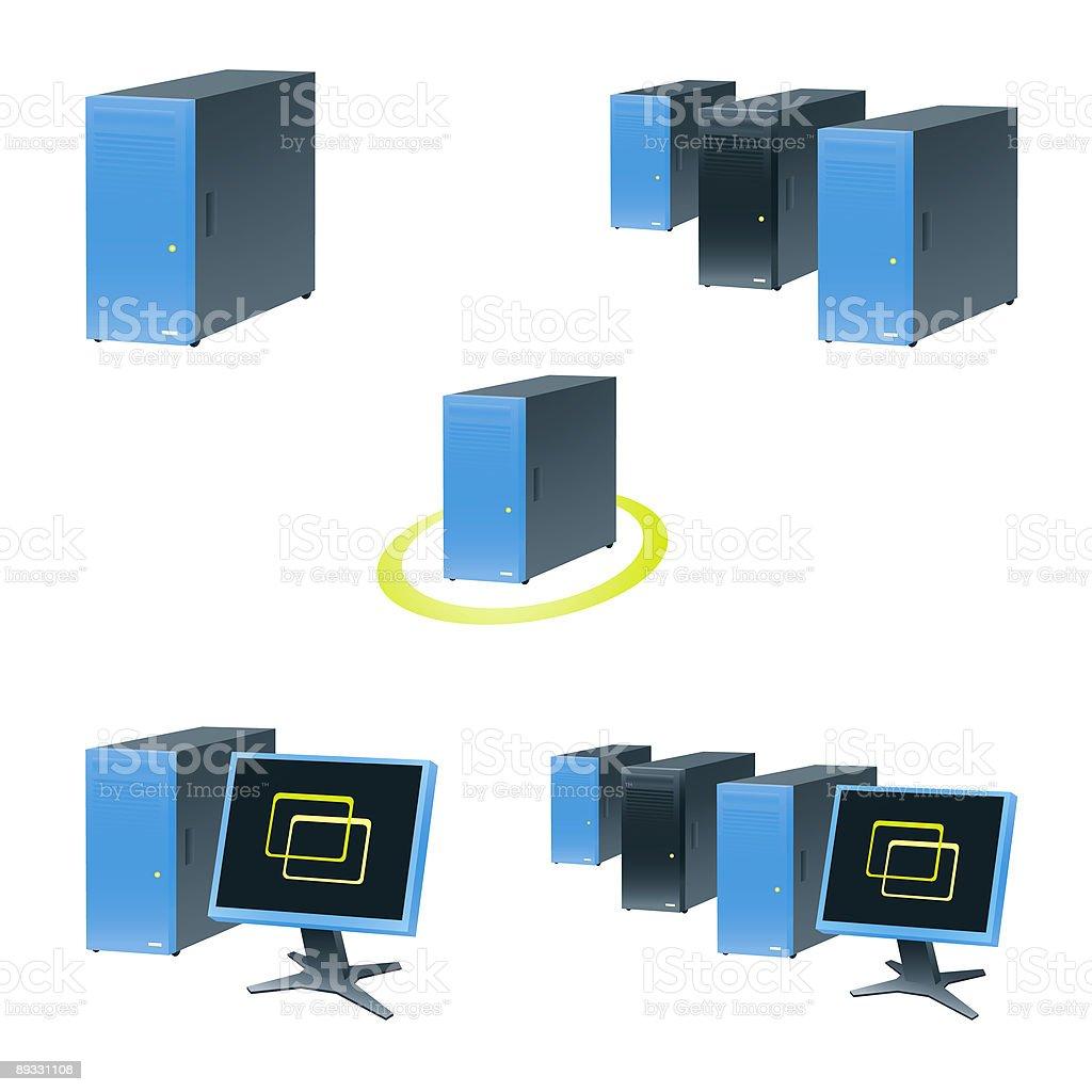 Server computers royalty-free stock vector art