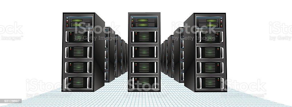 Server Grid royalty-free stock vector art
