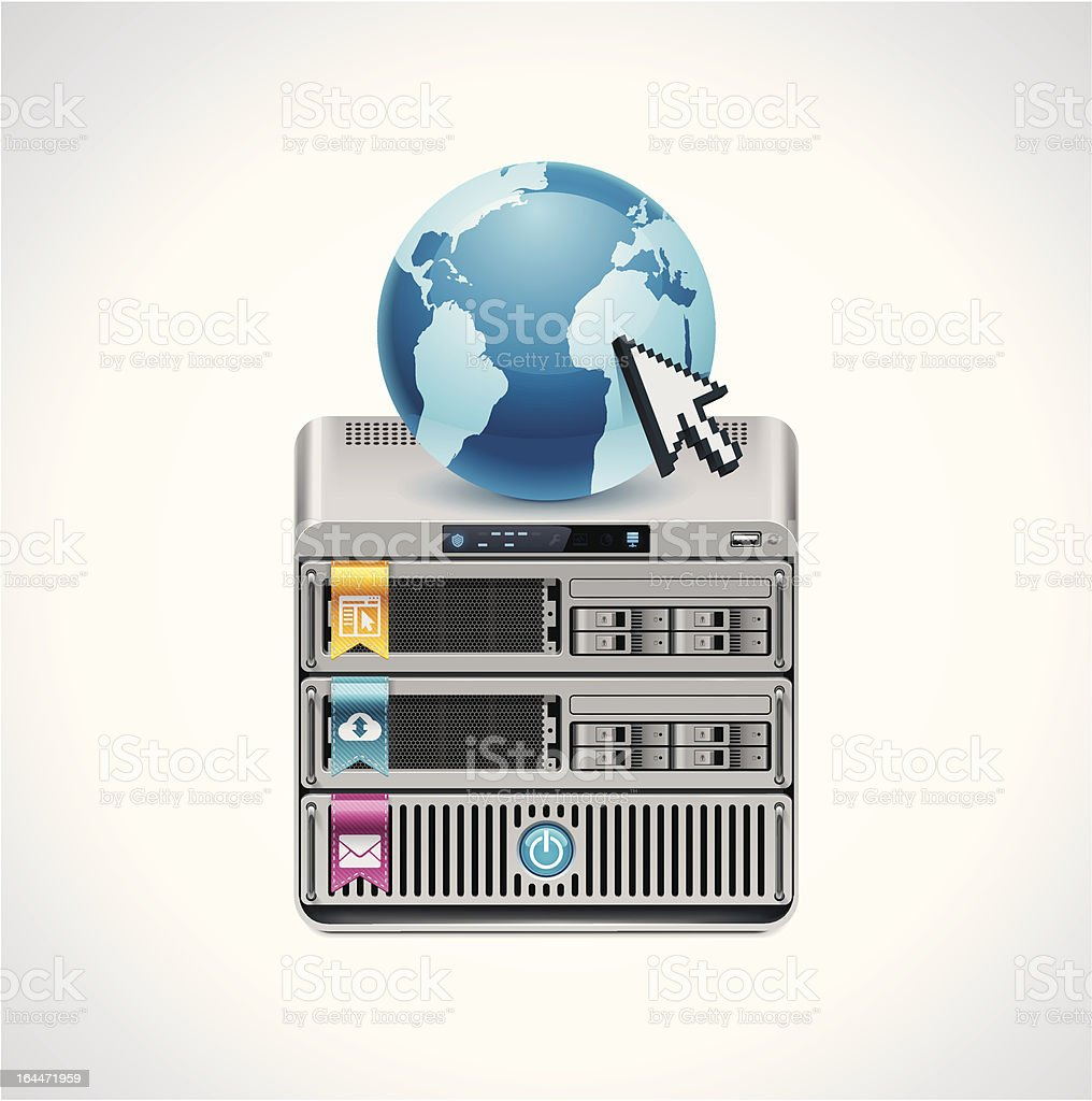 Server icon vector art illustration
