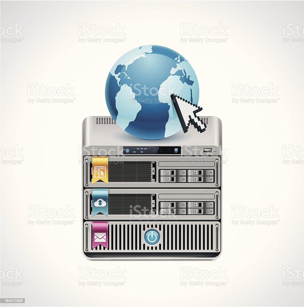 Server icon vector art illustration