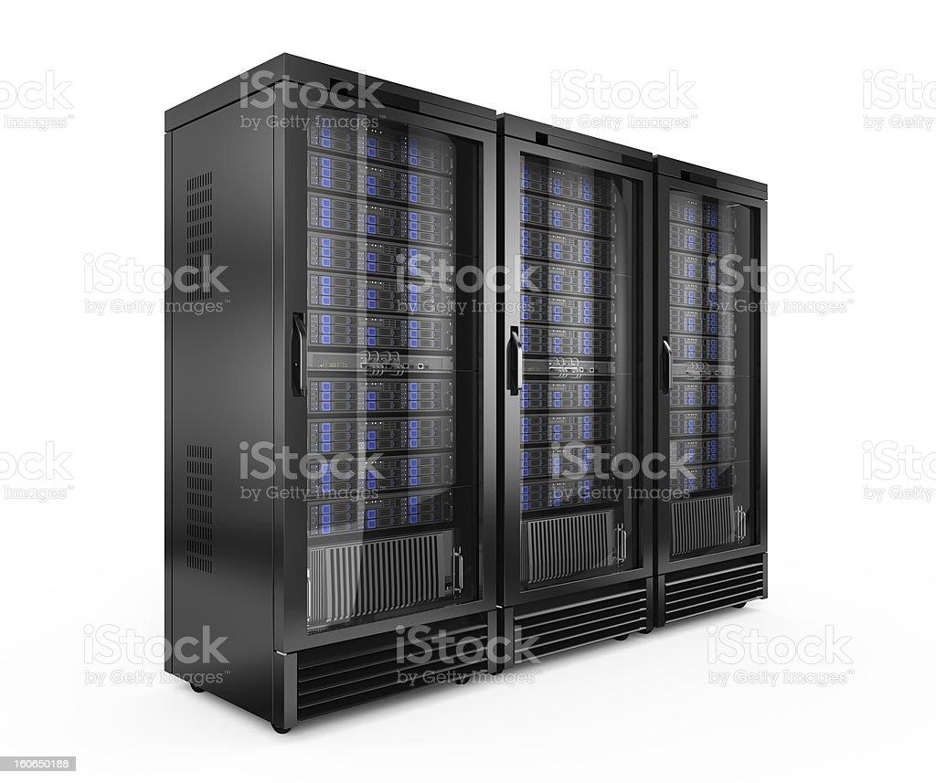 Server racks vector art illustration