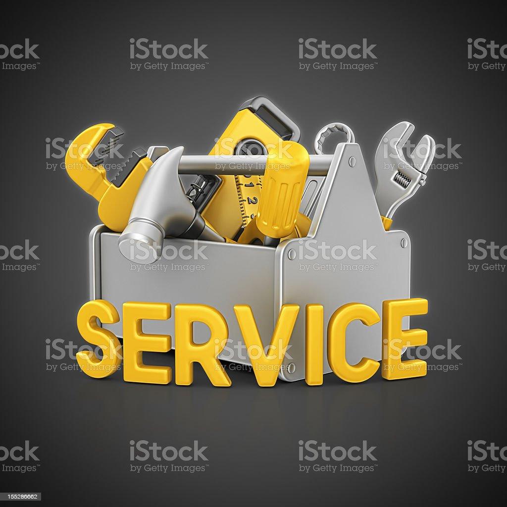 service toolbox royalty-free stock vector art