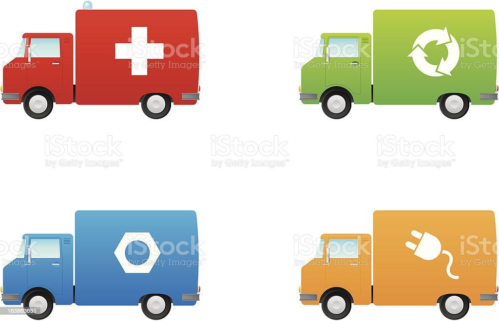 Service Truck Icons royalty-free stock vector art