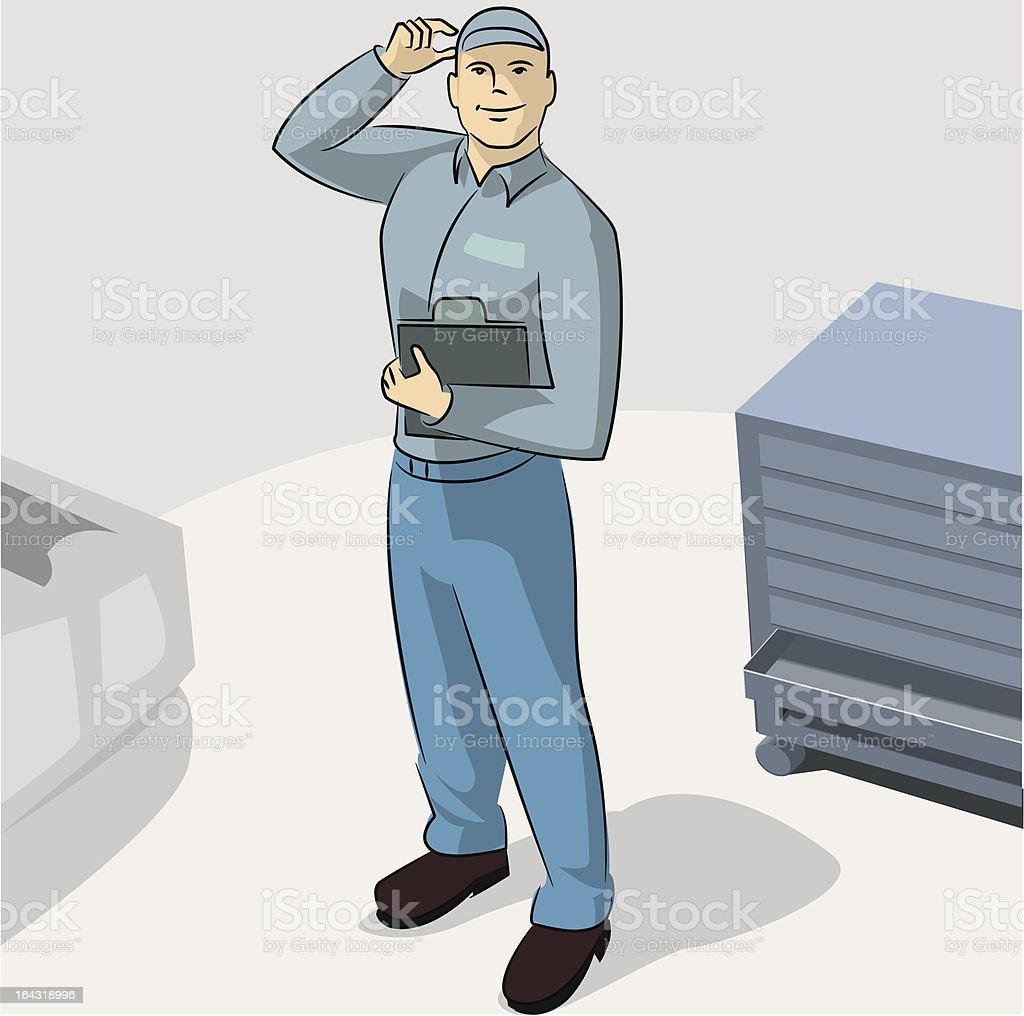 serviceman royalty-free stock vector art