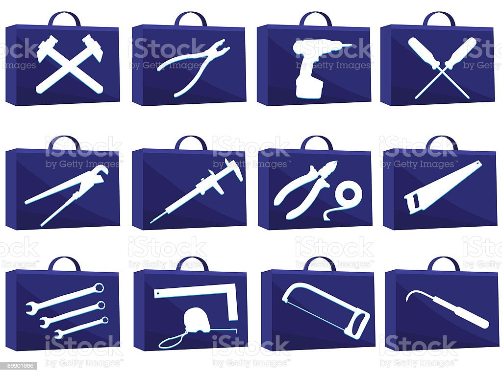 Set icon for web royalty-free stock vector art