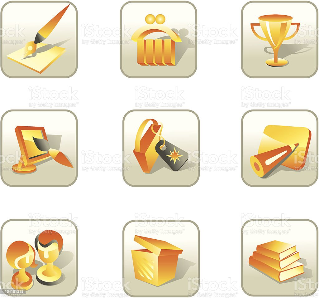 Set icons - marketing royalty-free stock vector art