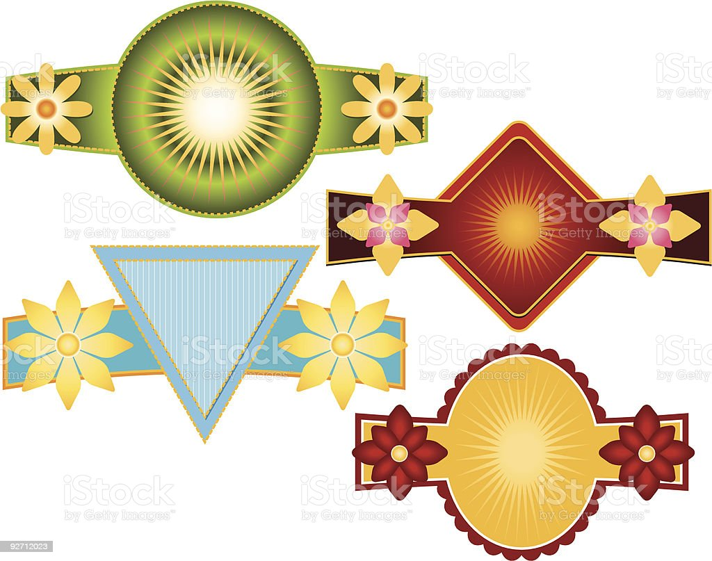 Set of 4 Vector Emblems & Crest royalty-free stock vector art