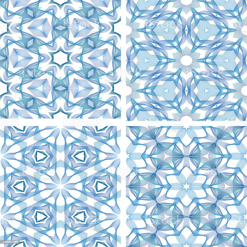 set of abstrack line blue seamless colorful background royalty-free stock vector art