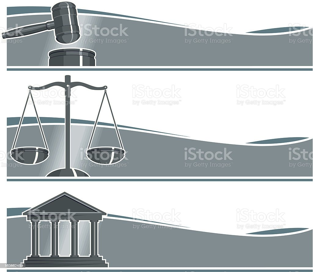 Set of Attorney Banners royalty-free stock vector art