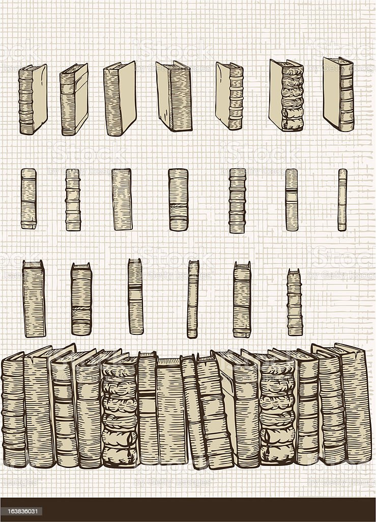 Set of  books royalty-free stock vector art