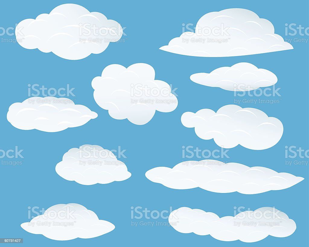 set of clouds royalty-free stock vector art