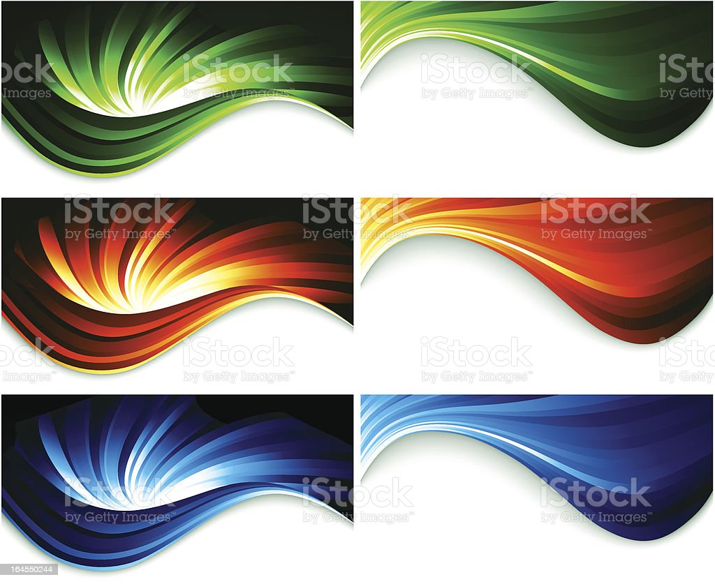 Set of color banner royalty-free stock vector art