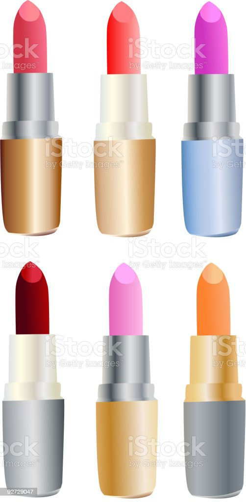 Set of colored lipsticks royalty-free stock vector art