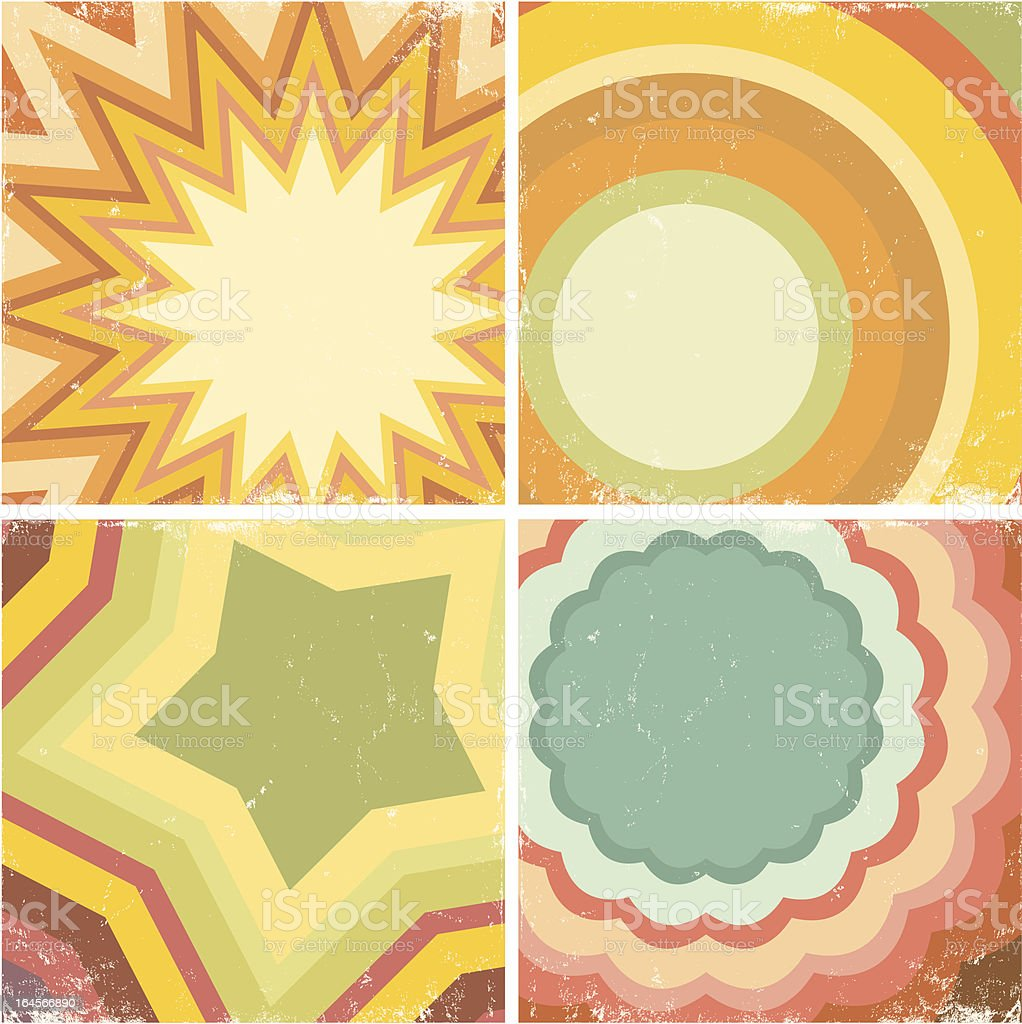 Set of colorful posters royalty-free stock vector art