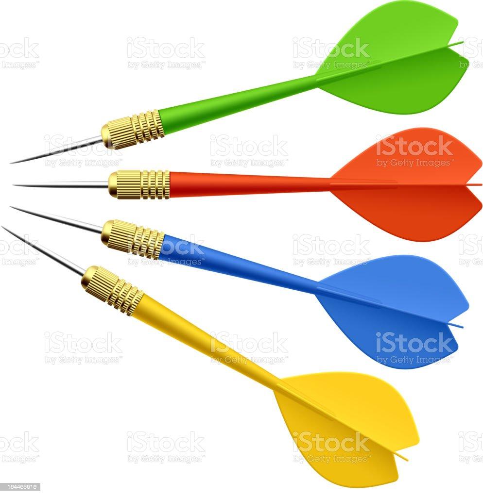 Set of darts vector art illustration