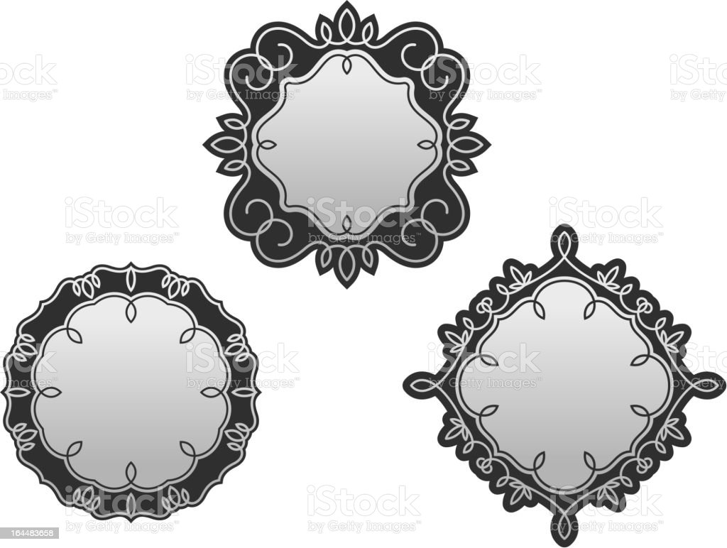 Set of decorative frames and borders royalty-free stock vector art
