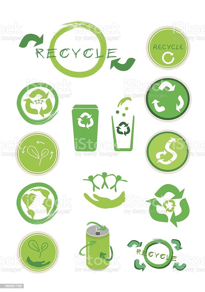 Set of Ecology Icon for Save The World royalty-free stock vector art