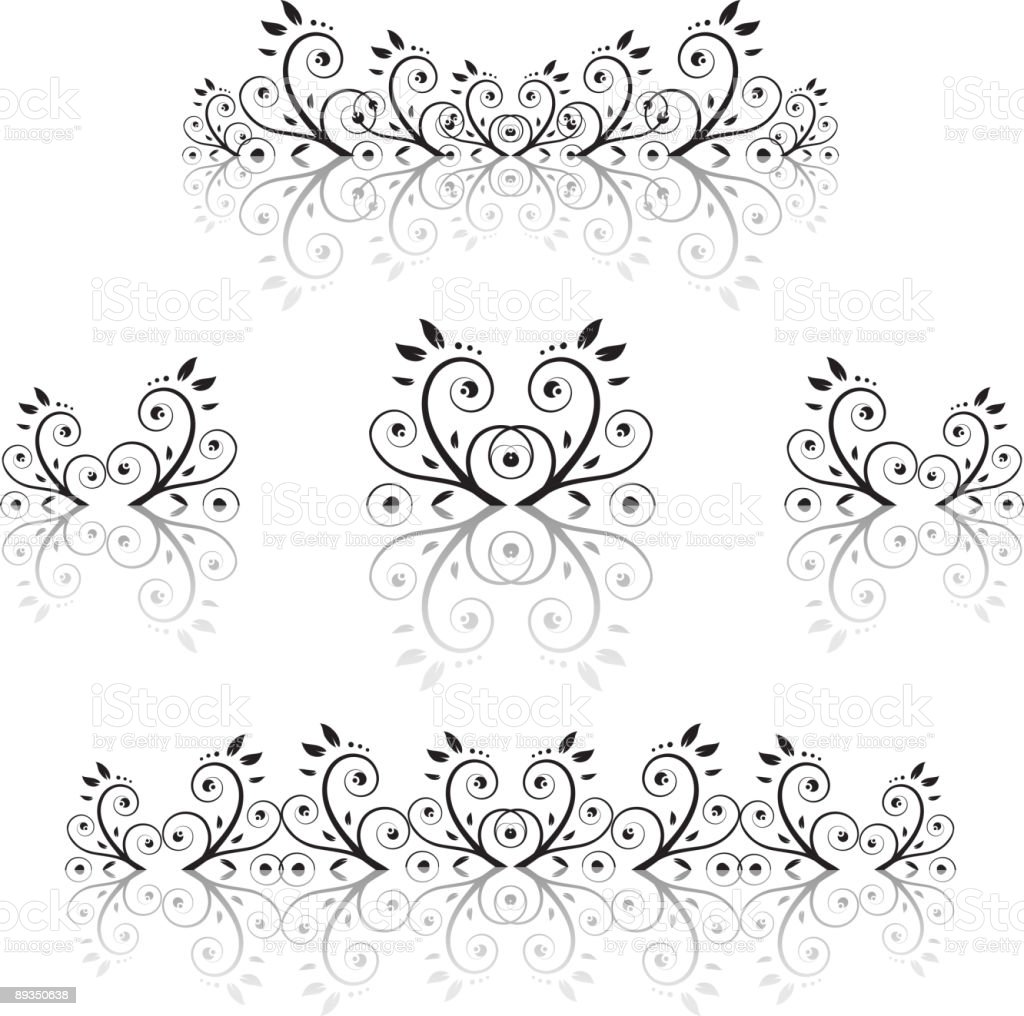Set of floral ornament royalty-free stock vector art
