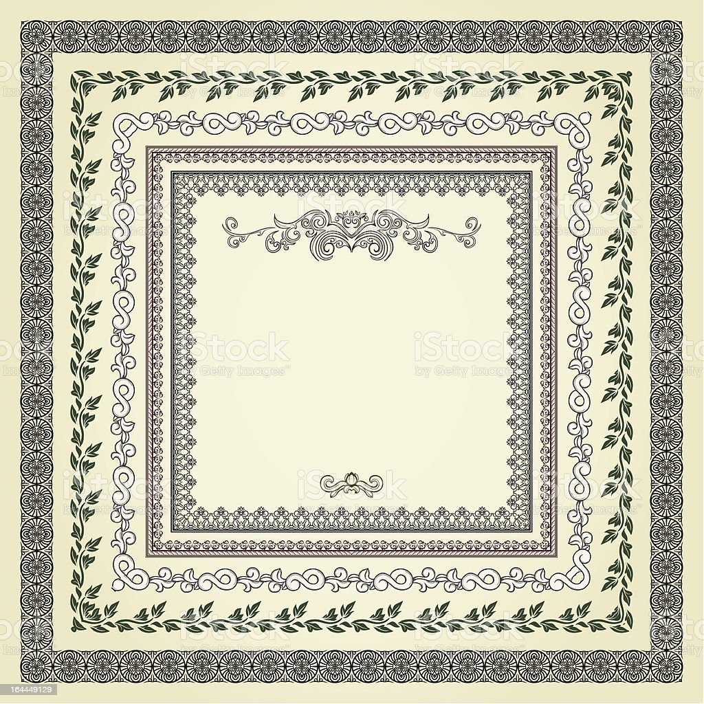 Set of frames royalty-free stock vector art