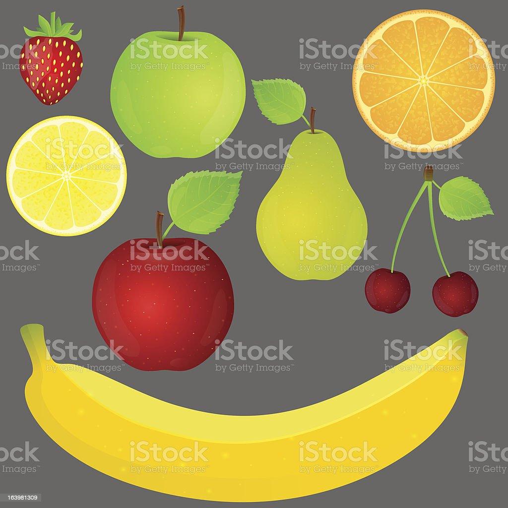 Set of fruit. royalty-free stock vector art