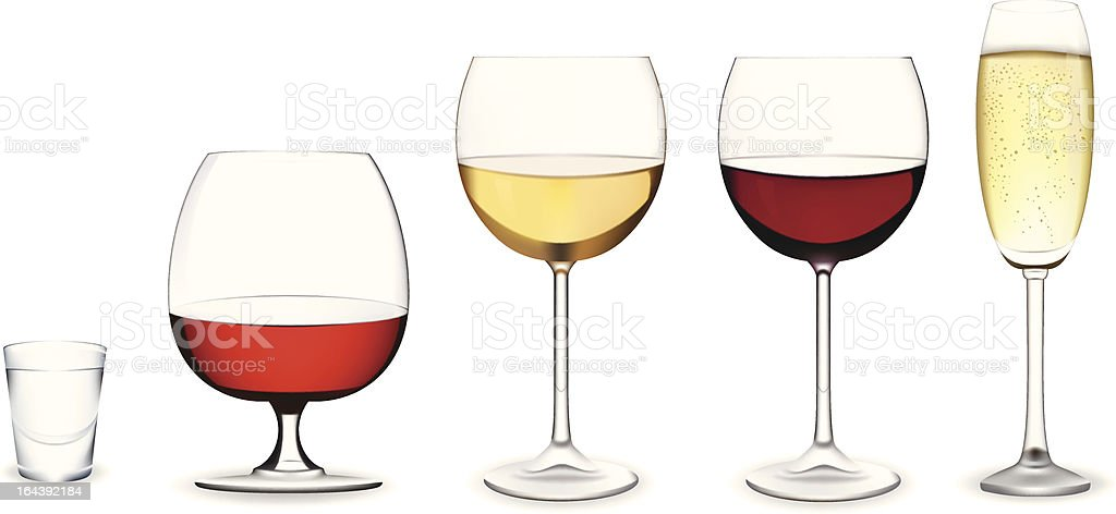 Set of glasses. royalty-free stock vector art