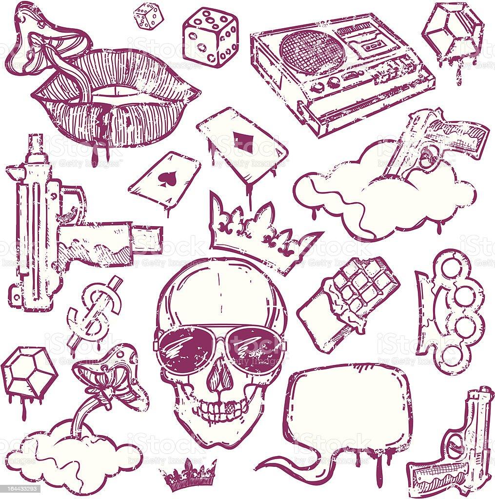 Set of Grunge Design Elements royalty-free stock vector art