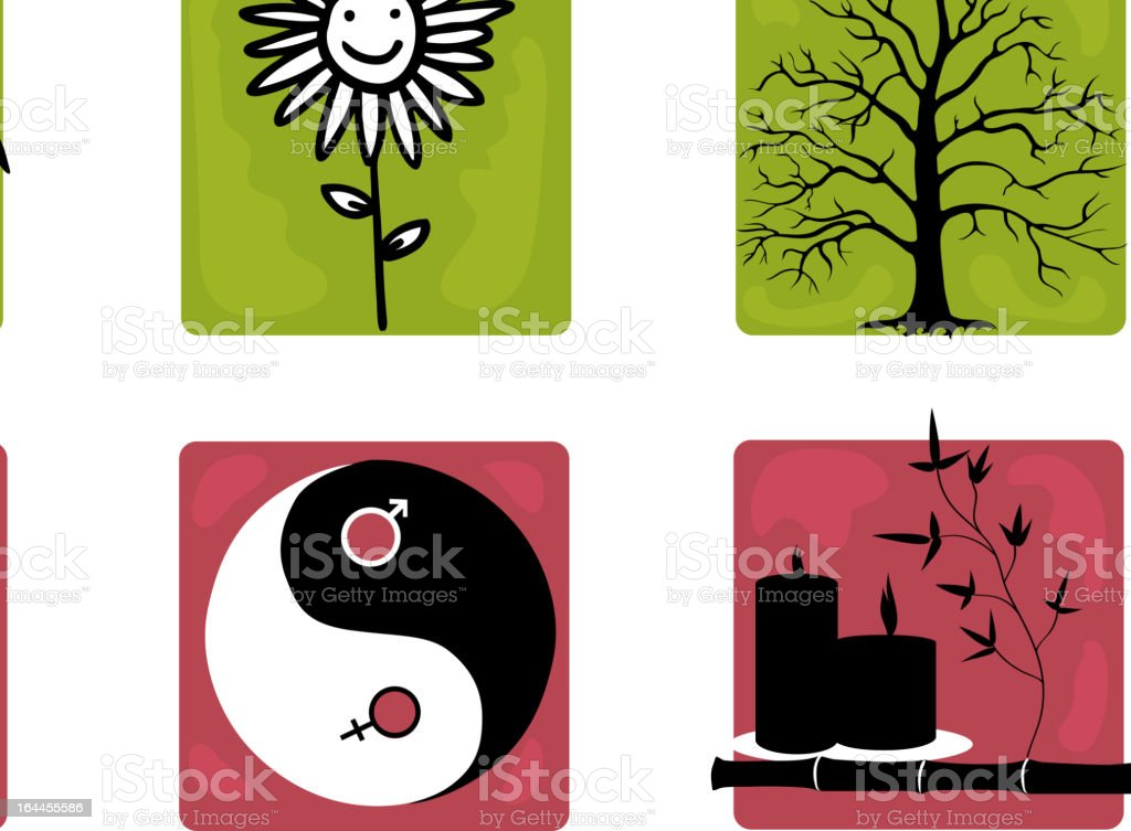 Set of heath care icons royalty-free stock vector art