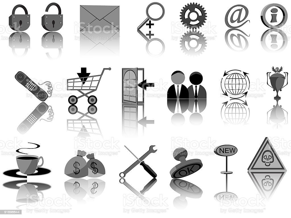 Set of icons for web royalty-free stock vector art