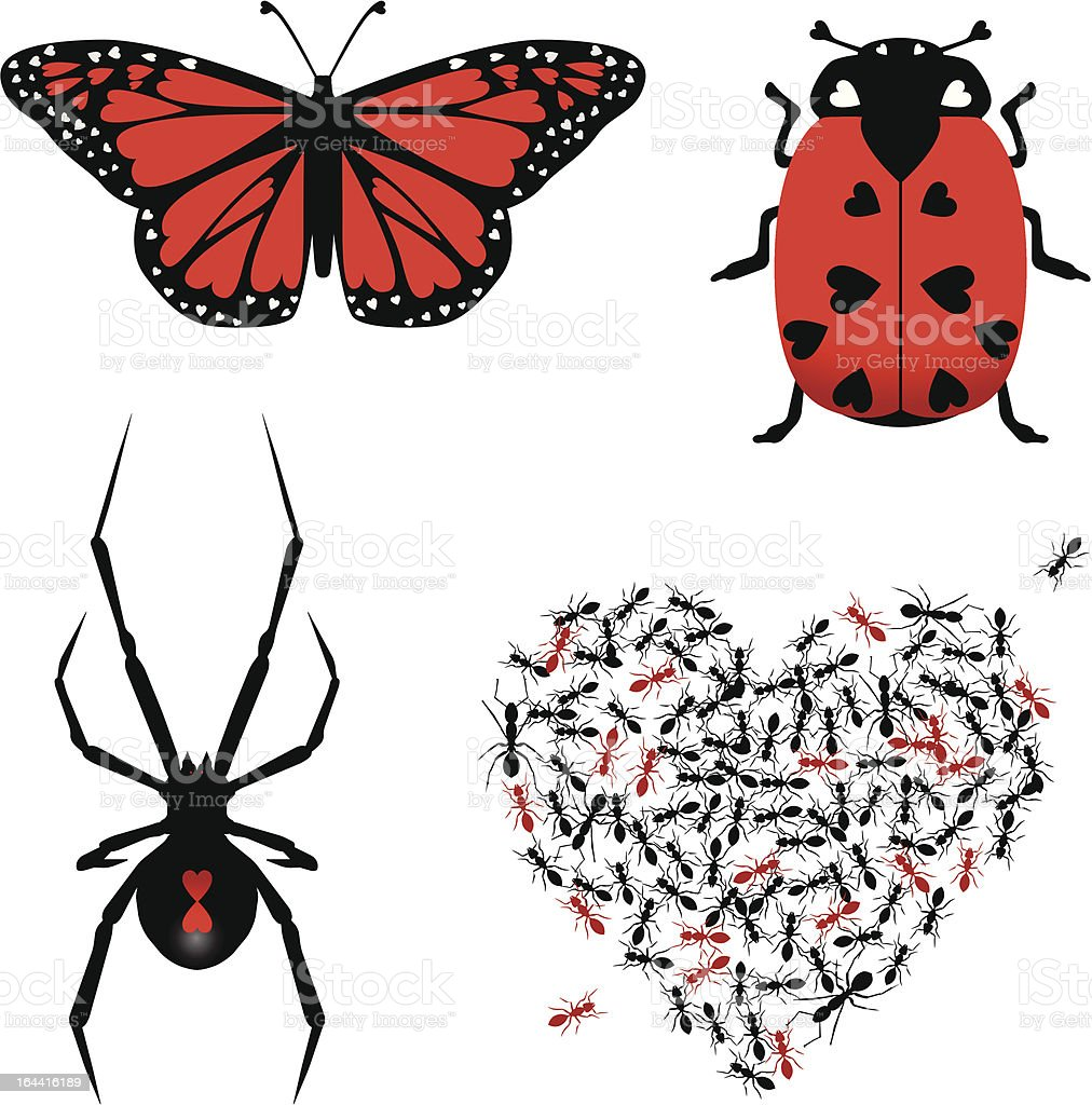 Set of lovebugs royalty-free stock vector art