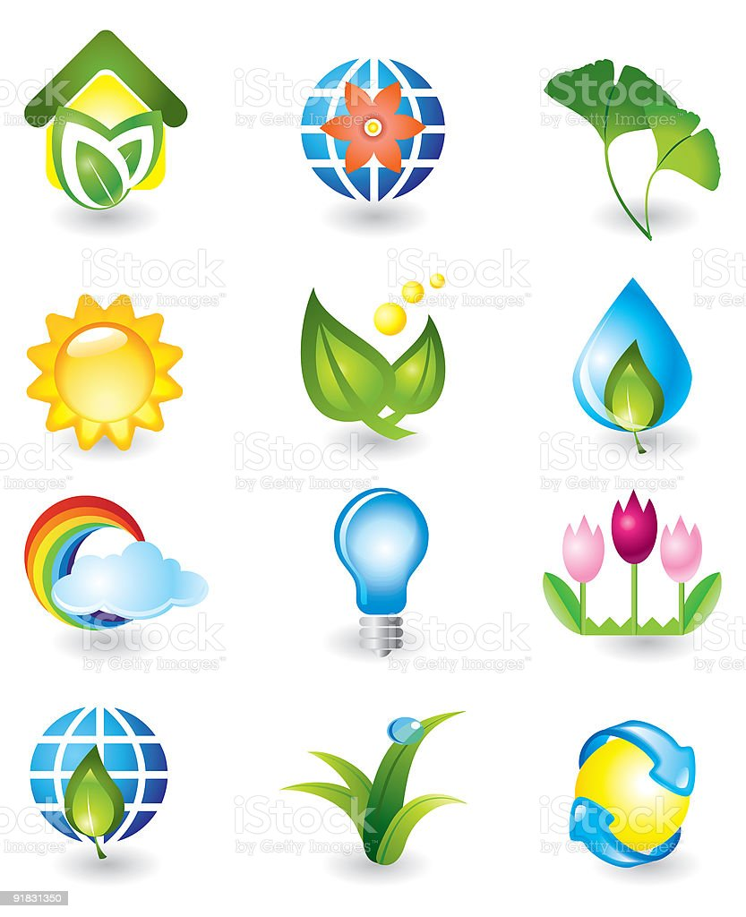 Set of nature design elements royalty-free stock vector art