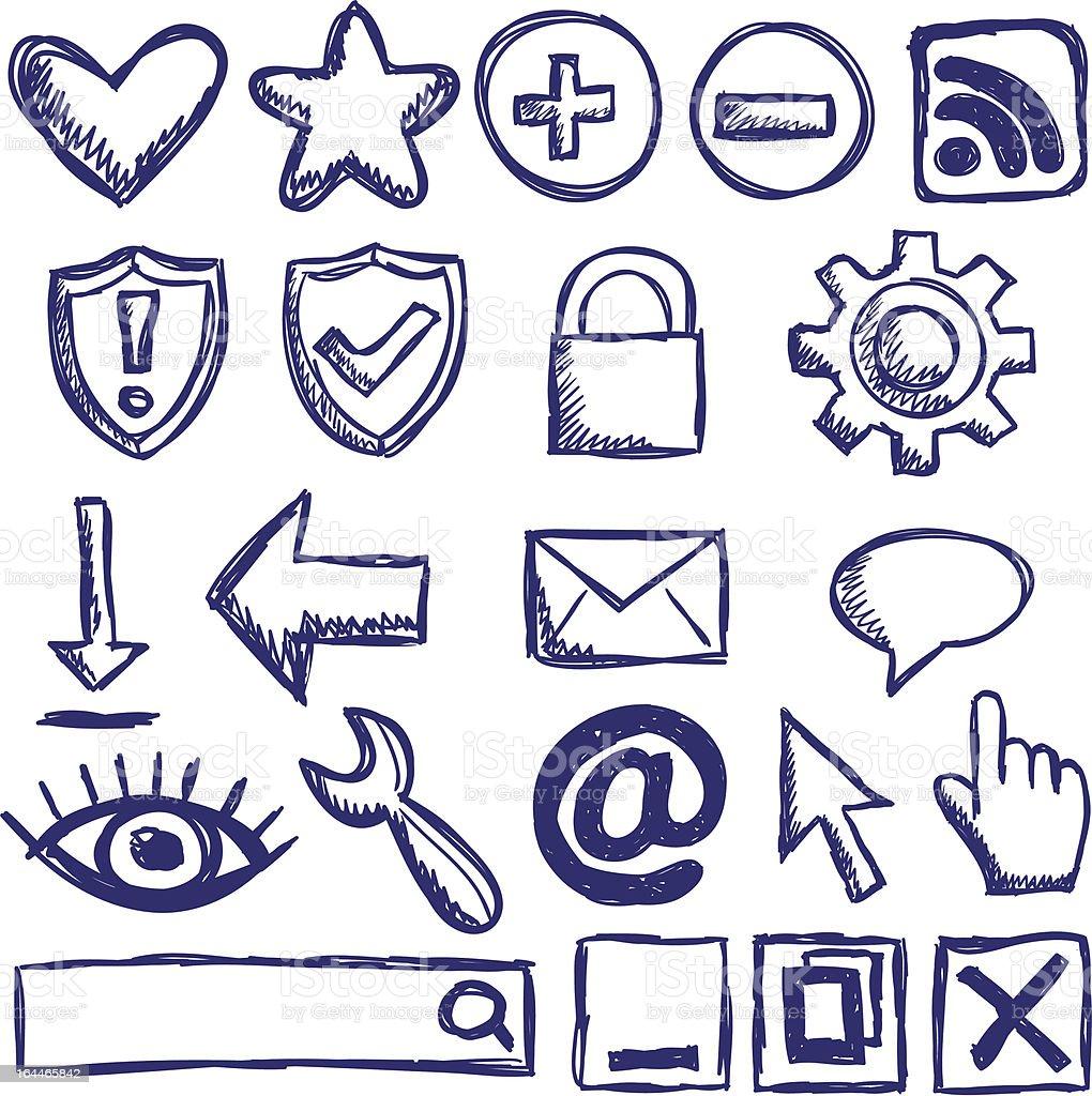 Set of nternet web icons vector art illustration