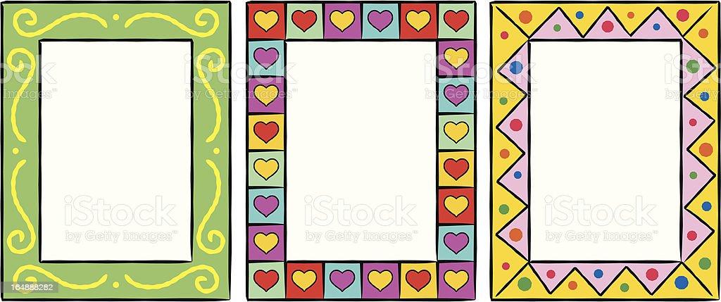 Set of original funny vector decorative frames royalty-free stock vector art