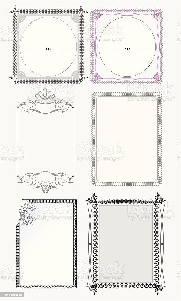 Set of ornate vector frames royalty-free stock vector art