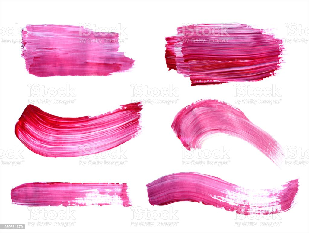 Purple Paint Set Of Purple Paint Strokes Stock Vector Art 639734376  Istock
