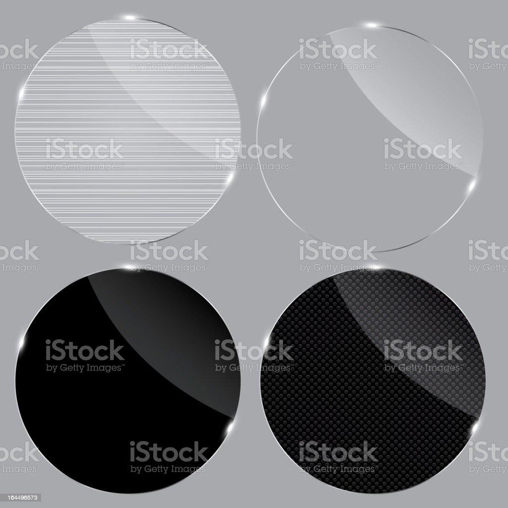 Set of realistic glass frames. Vector illustration. royalty-free stock vector art