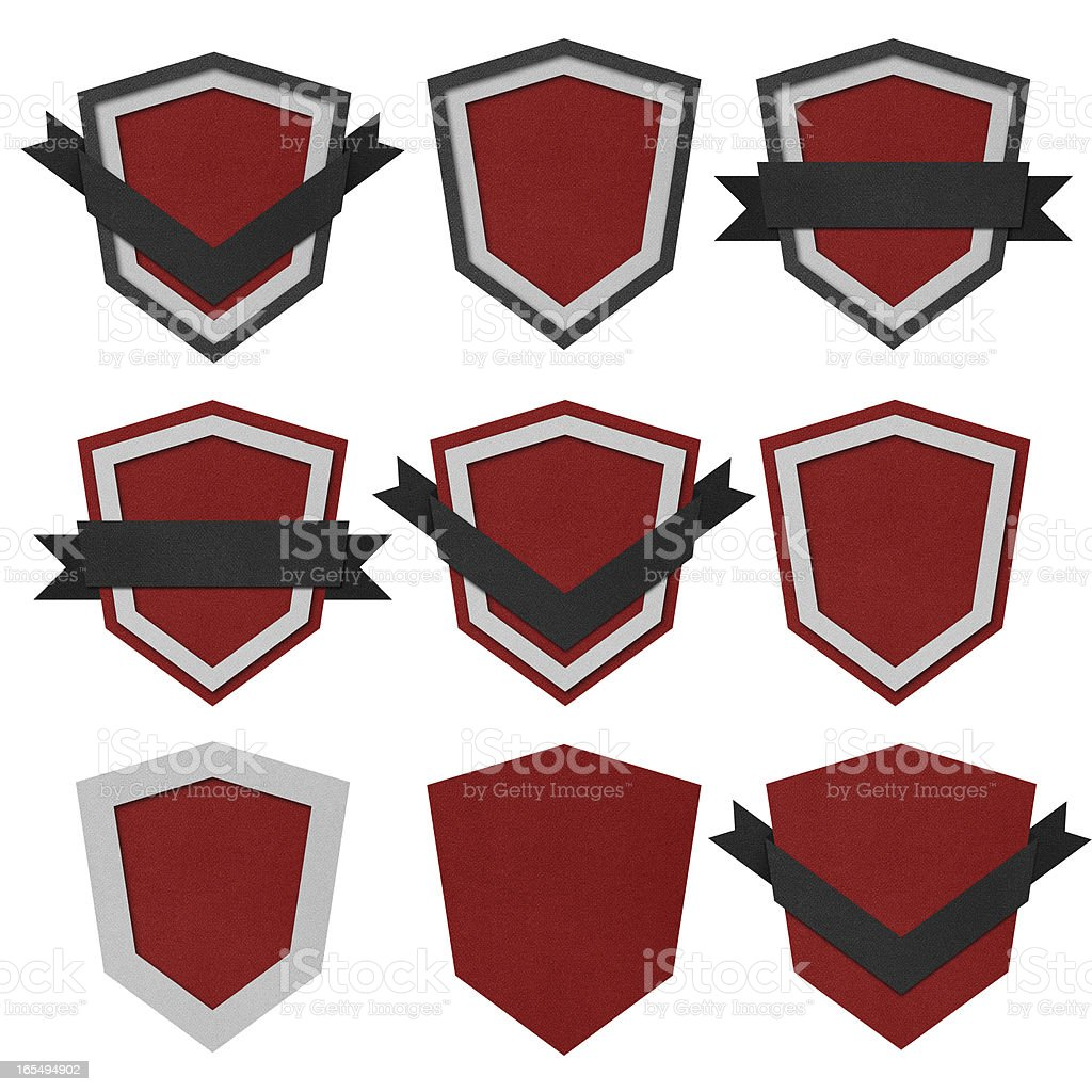 Set of retro vintage badges and labels. royalty-free stock vector art