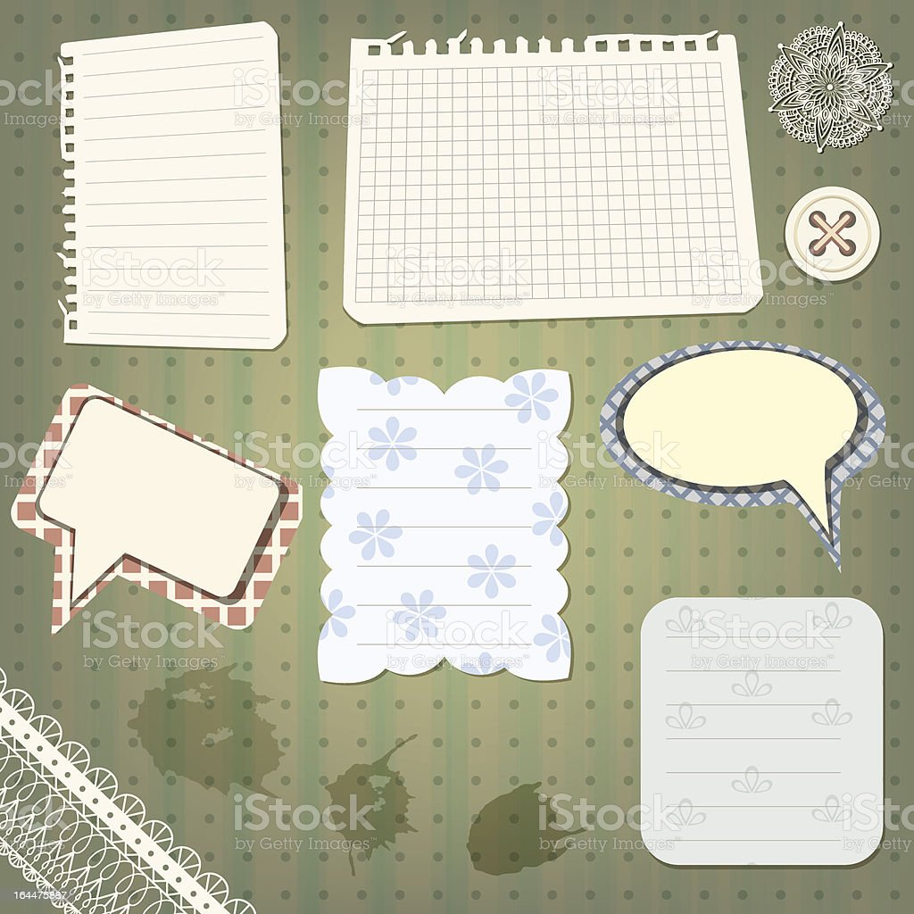 set of scrapbook design elements royalty-free stock vector art