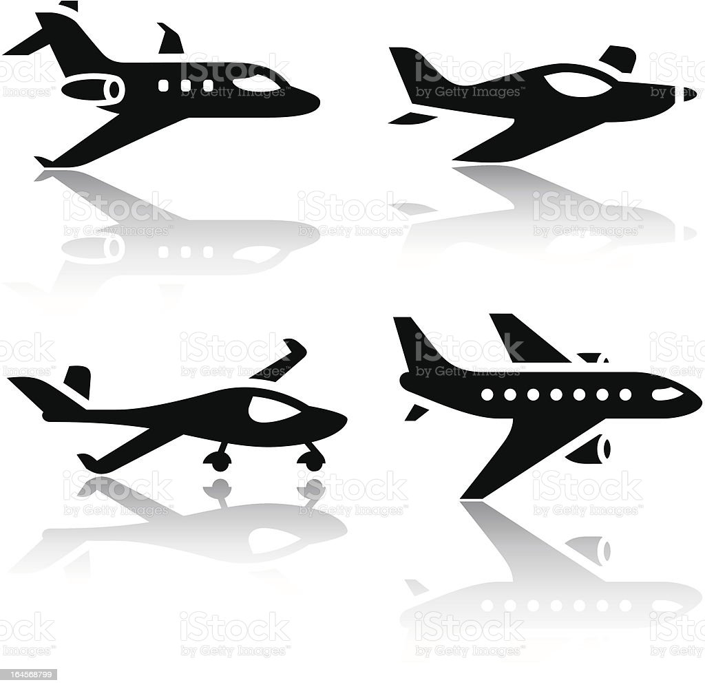 Set of transport icons - airplane royalty-free stock vector art