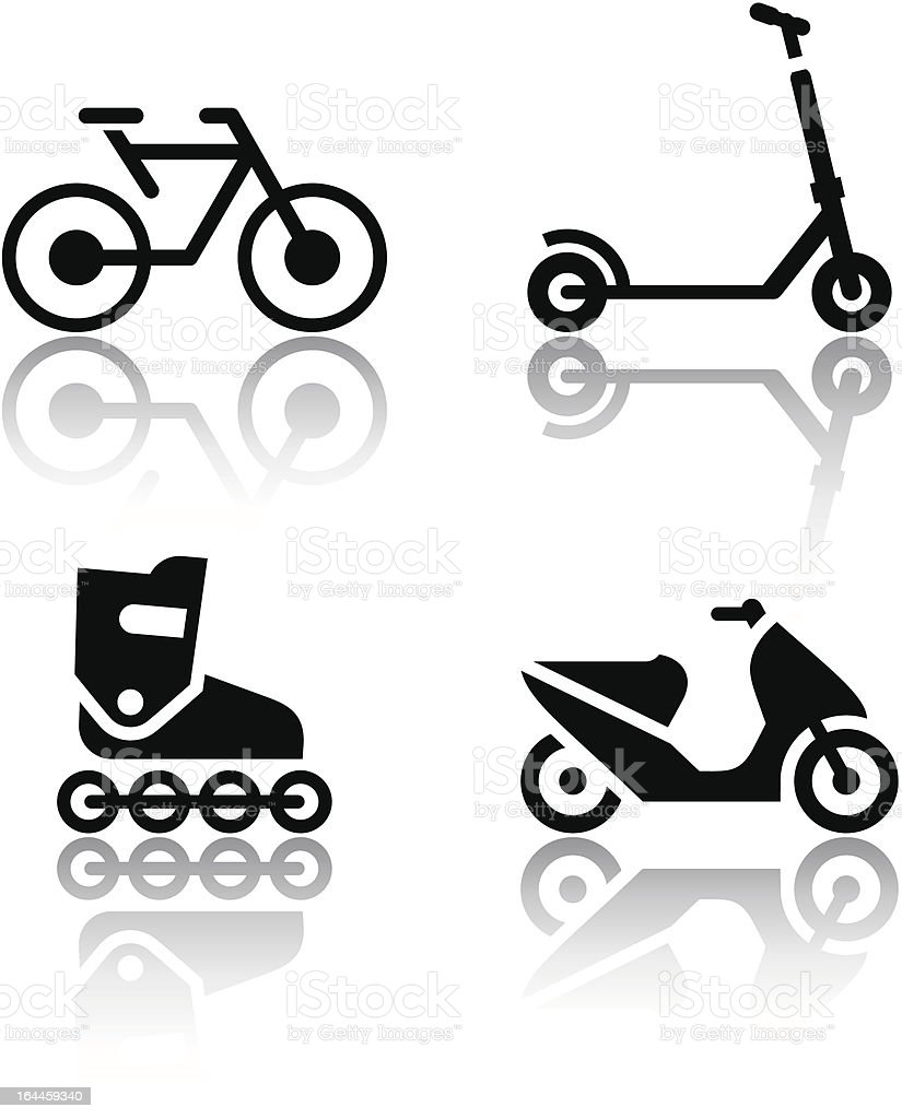 Set of transport icons - extreme sports royalty-free stock vector art