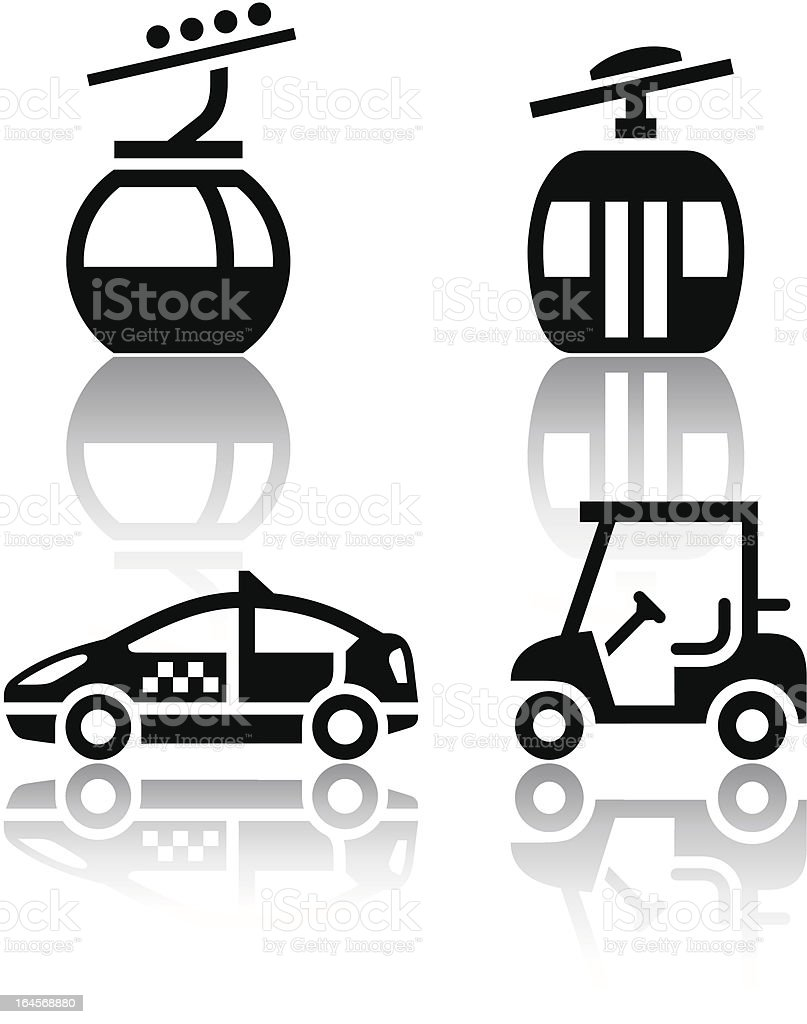Set of transport icons - sport vector art illustration