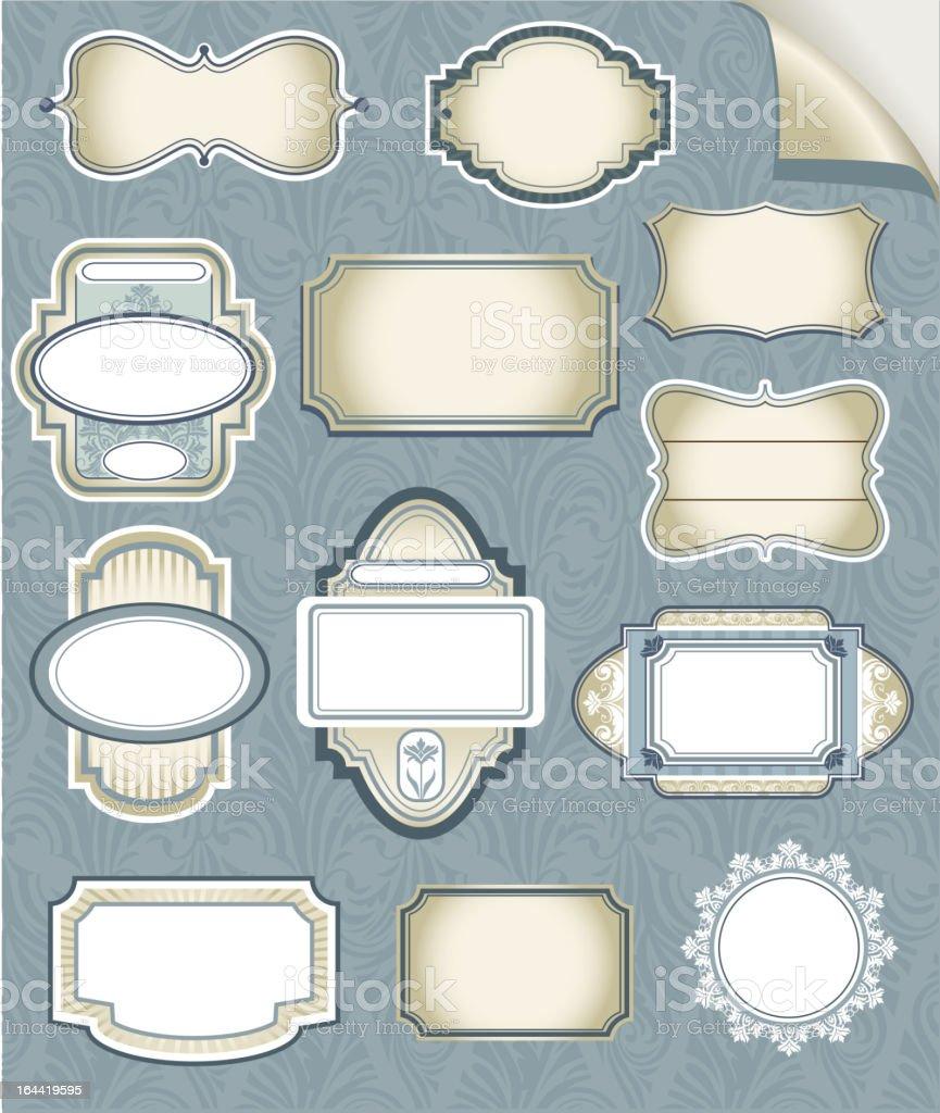 Set of vector frames royalty-free stock vector art