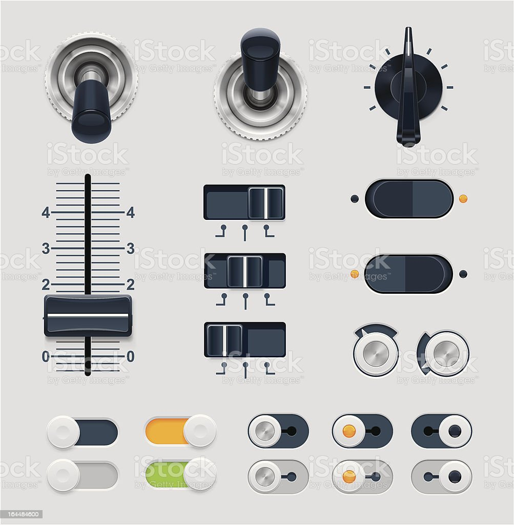 Set of vector illustration dials royalty-free stock vector art