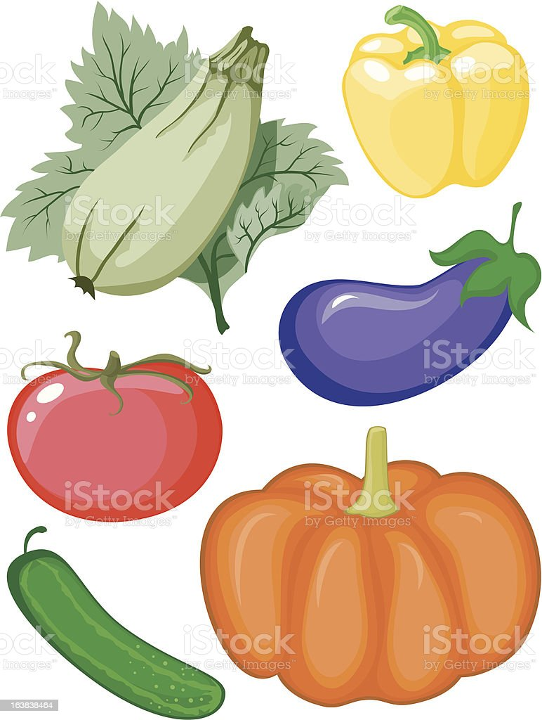 Set of vegetables royalty-free stock vector art